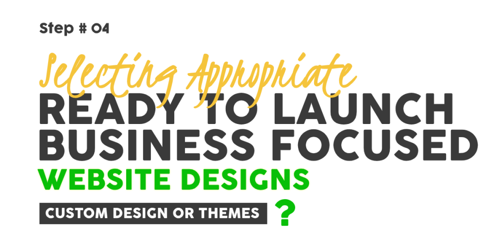 Selecting Appropriate Ready-to-Launch-Business-Focused-Website-Designs